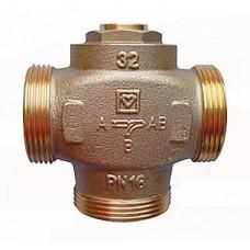 Трехходовой термосмесительный клапан ГЕРЦ TEPLOMIX DN 25  (отключаемый байпас)