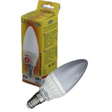 Светодиодная лампа Led C37-6W-E14-4000