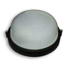 Светильник 100 Вт круг черный