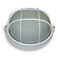 Светильник 60 Вт круг белый с  решеткой
