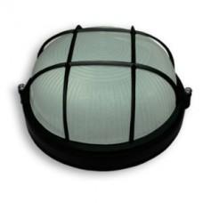 Светильник 60 Вт круг черный с  решеткой